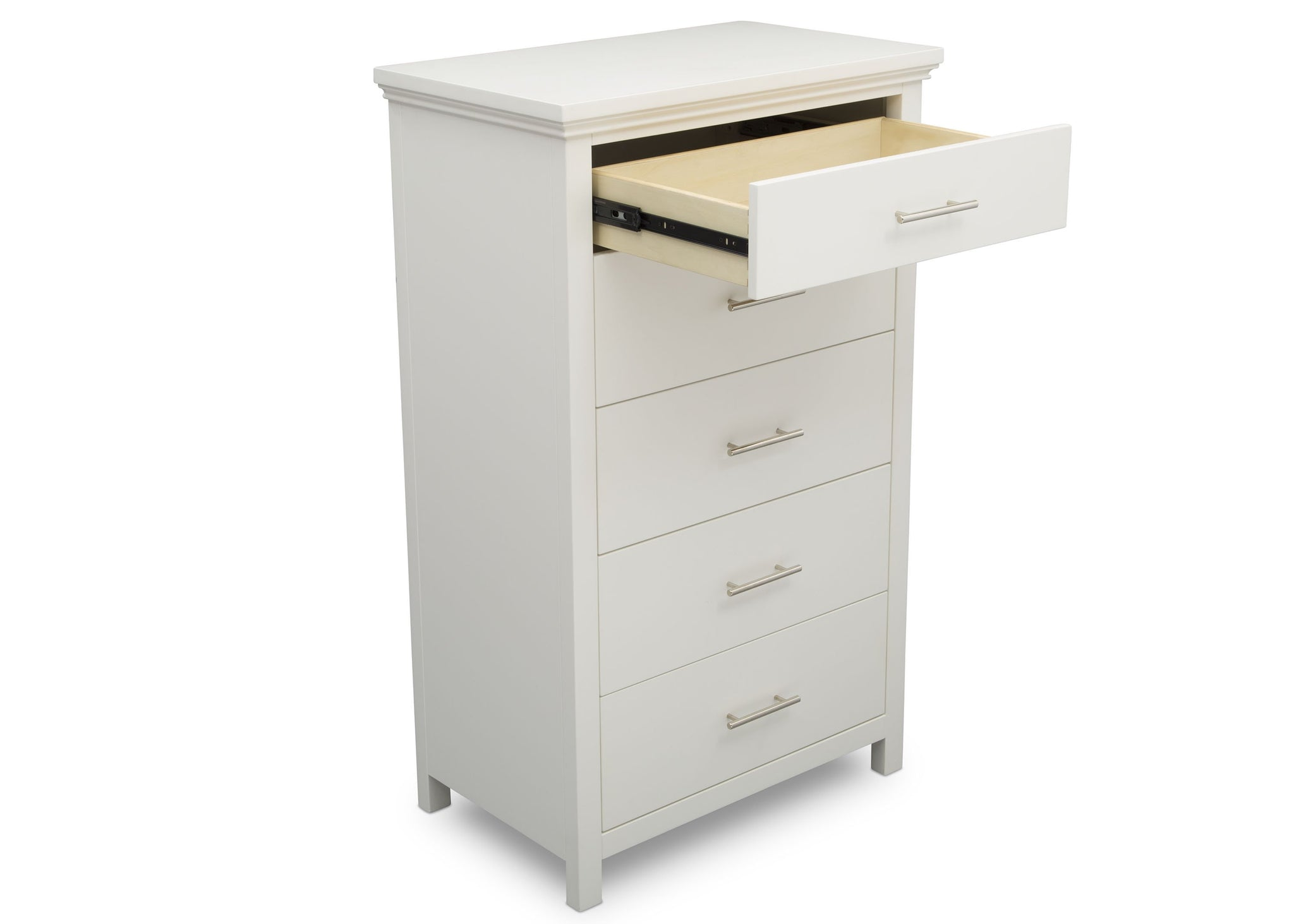 Delta Children Bianca White (130) Avery 5 Drawer Chest (708050), Detail, b4b