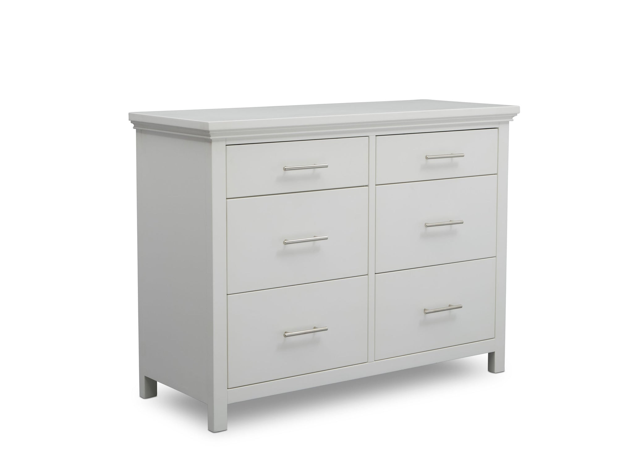 Delta Children Bianca White (130) Avery 6 Drawer Dresser (708060), Sideview, b4b
