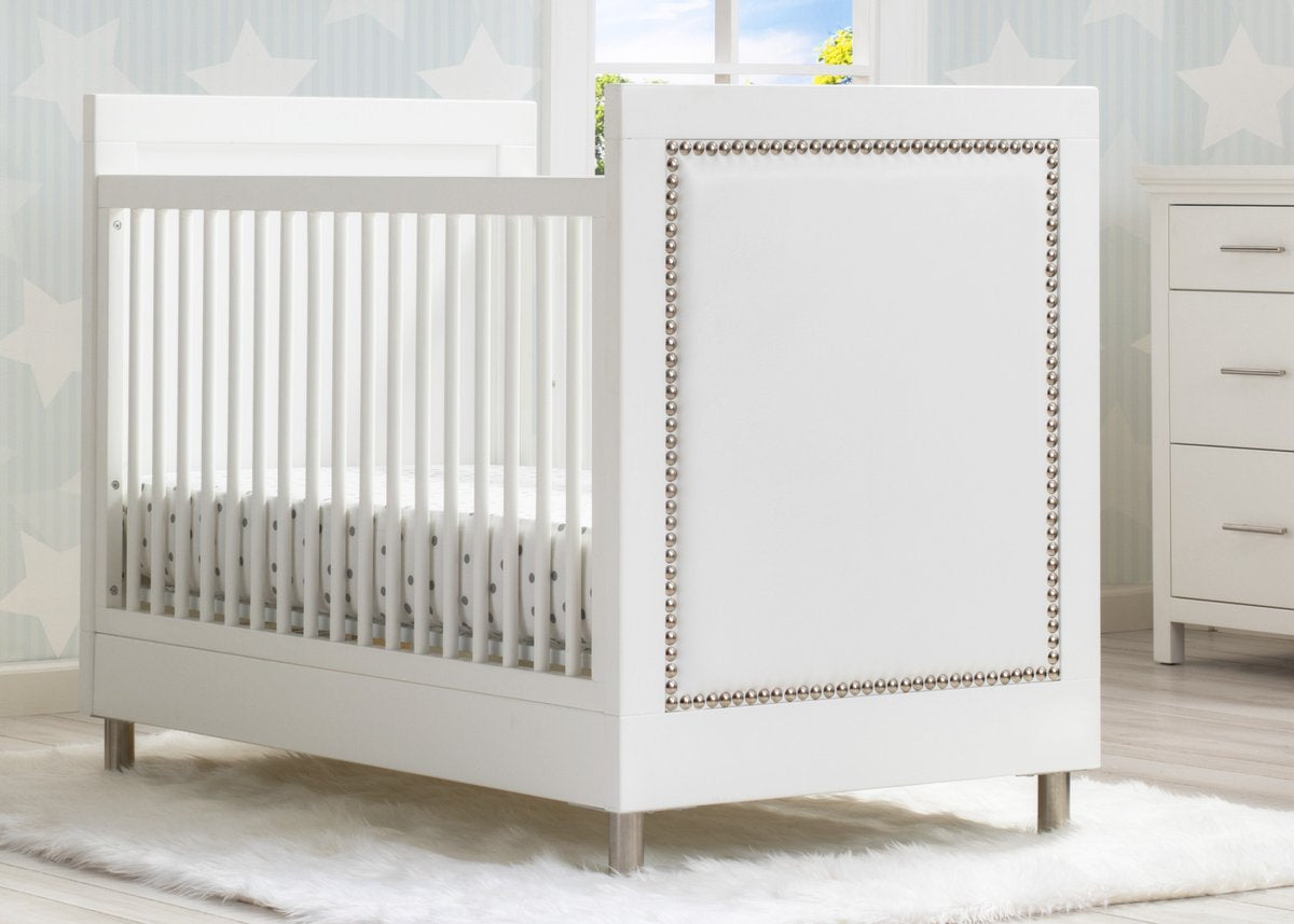 Delta Children Bianca White (1321) Avery 3-in-1 Convertible Crib (708130), Hangtag View
