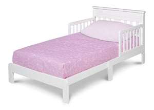 Delta Children White (100) Scottsdale Toddler Bed, Left Side View a2a