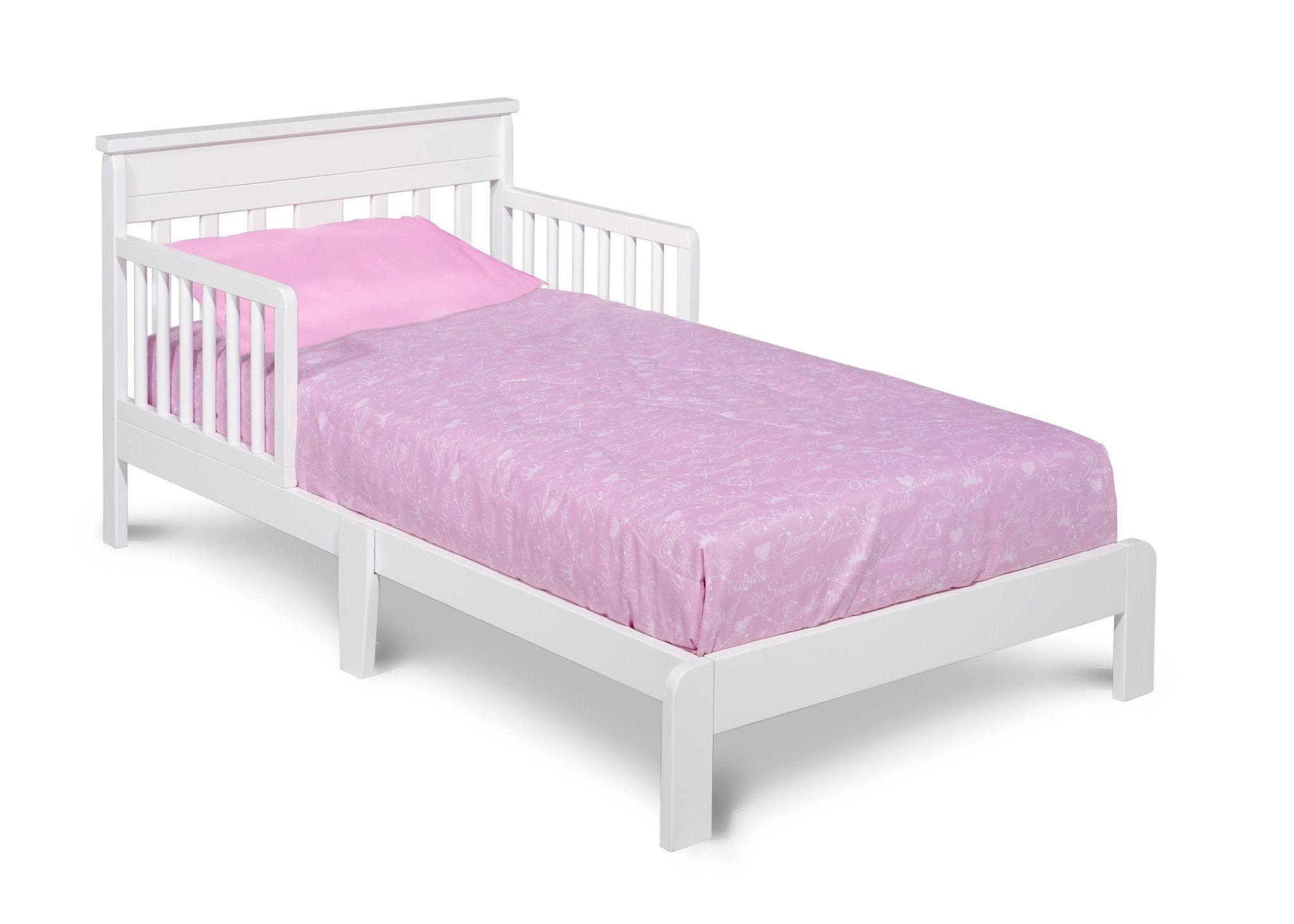 Delta Children White (100) Scottsdale Toddler Bed, Right Side View a1a