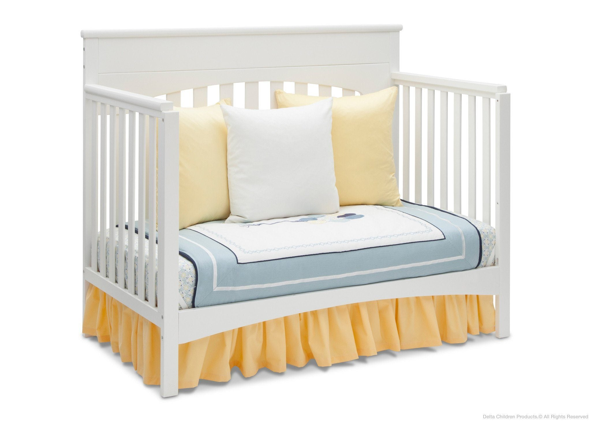 Delta Children White Ambiance (108) Bennington Lifestyle 4-in-1 Crib, Day Bed Conversion a5a