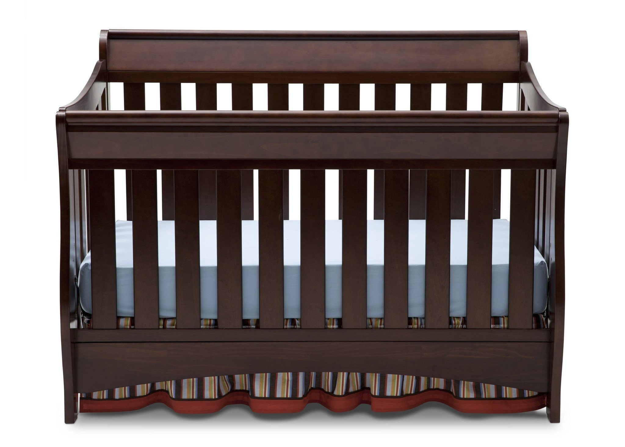 Delta Children Chocolate (204) Birkdale 4-in-1 Crib, Front Crib View a2a