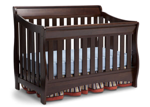 Delta Children Chocolate (204) Birkdale 4-in-1 Crib, Angled Crib View a3a