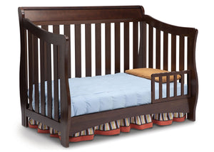 Delta Children Chocolate (204) Birkdale 4-in-1 Crib, Toddler Bed Conversion a4a