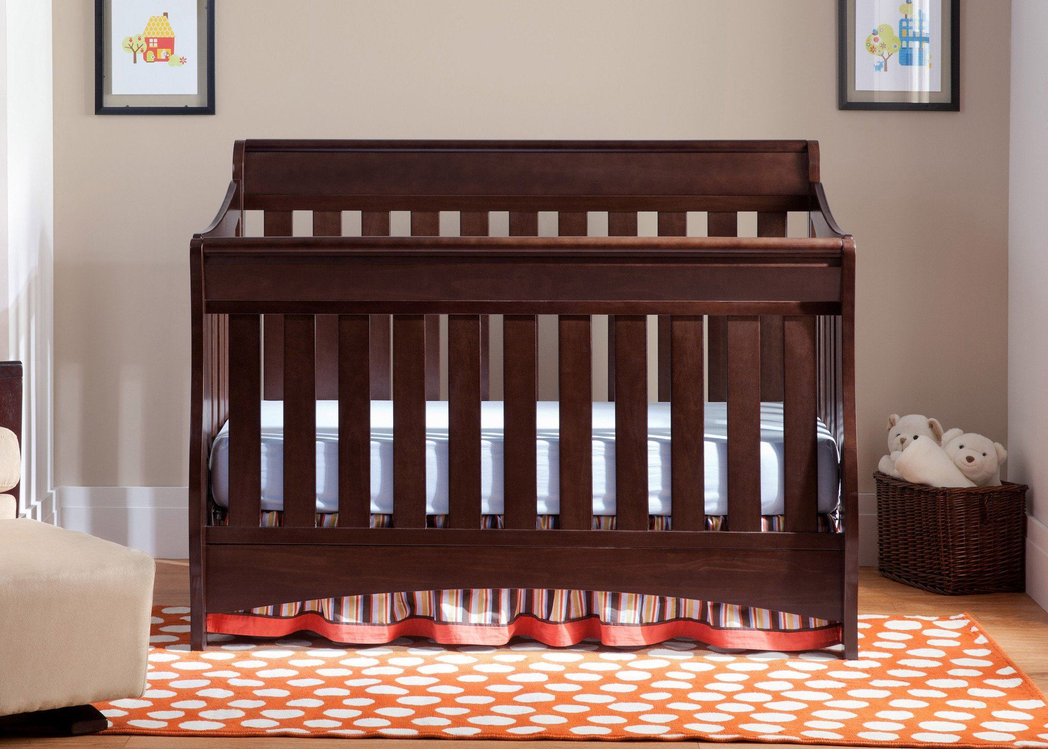 Delta Children Chocolate (204) Birkdale 4-in-1 Crib, Hangtag a1a