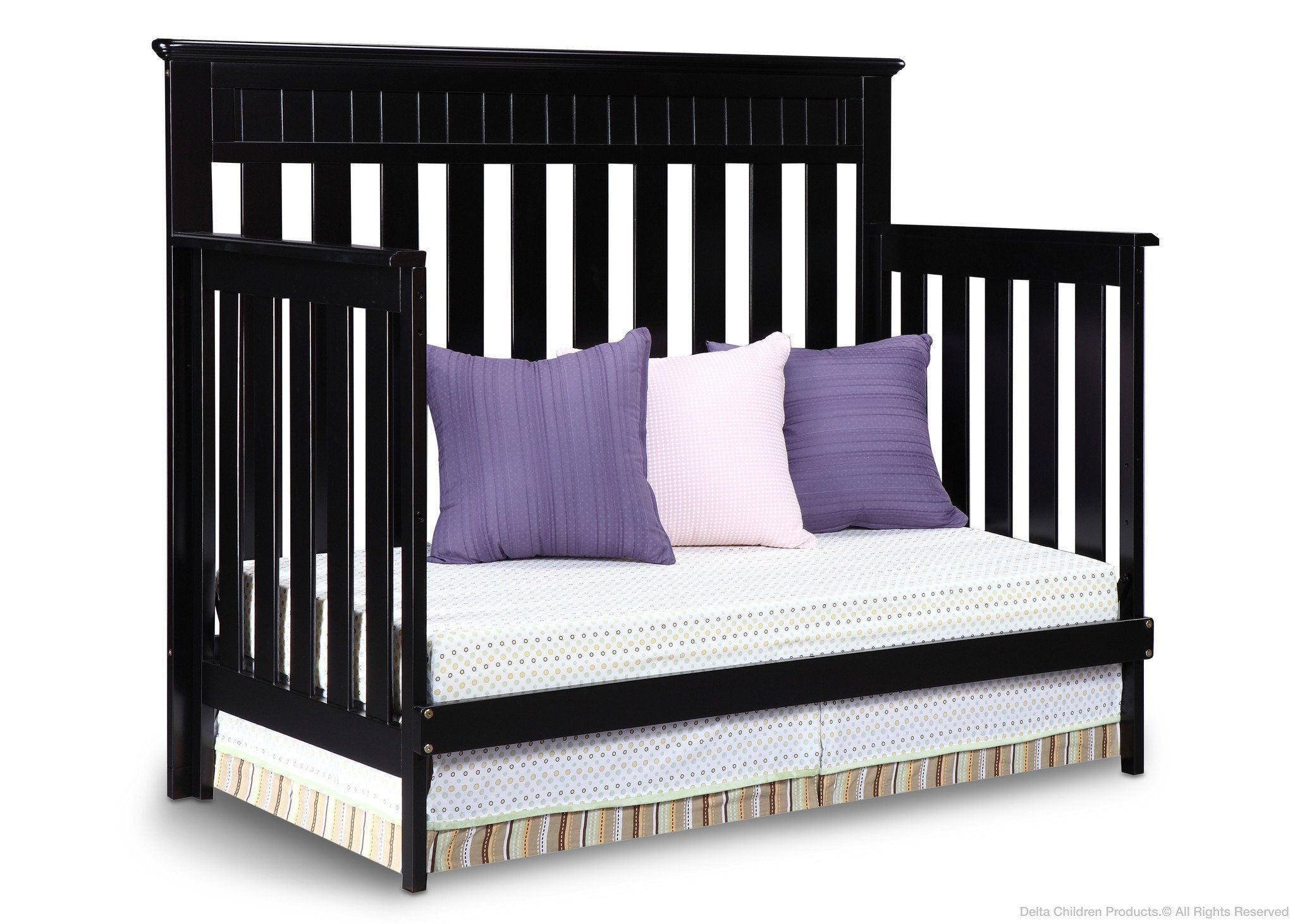Delta Children Black (001) Chalet 4-in-1, Day Bed Conversion a4a