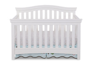 Delta Children White Ambiance (108) Bennington Curved 4-in-1 Crib a1a