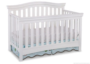 Delta Children White Ambiance (108) Bennington Curved 4-in-1 Crib