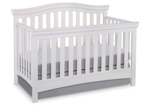 Delta Children White Ambiance (108) Bennington Curved 4-in-1 Crib a2a