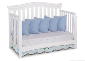Delta Children White Ambiance (108) Bennington Curved 4-in-1 Crib Daybed Conversion a4a