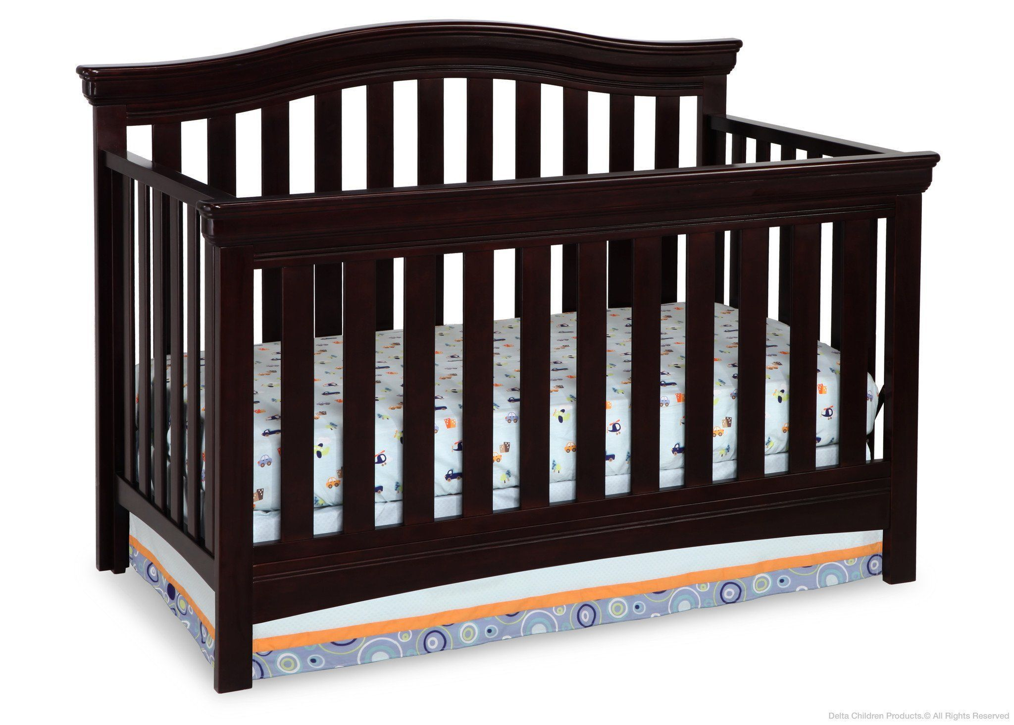 Delta Children Dark Chocolate (207) Bennington Curved 4-in-1 Crib b2b