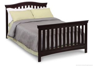 Delta Children Dark Chocolate (207) Bennington Curved 4-in-1 Crib Full Bed Conversion b5b