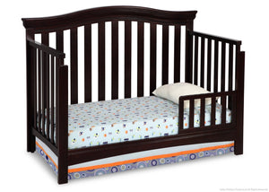 Delta Children Dark Chocolate (207) Bennington Curved 4-in-1 Crib Toddler Bed Conversion b3b
