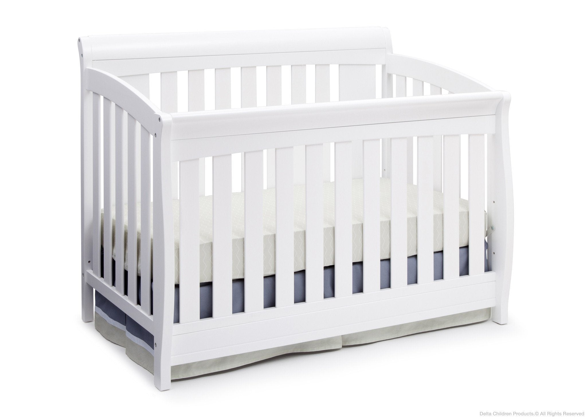 Delta Children Bianca White (130) Clermont 4-in-1 Crib, Crib Conversion