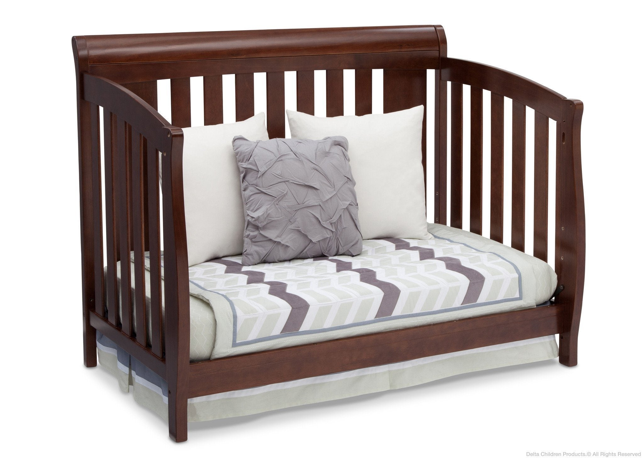 Delta Children Chocolate (204) Clermont 4-in-1 Crib, Day Bed Conversion b4b