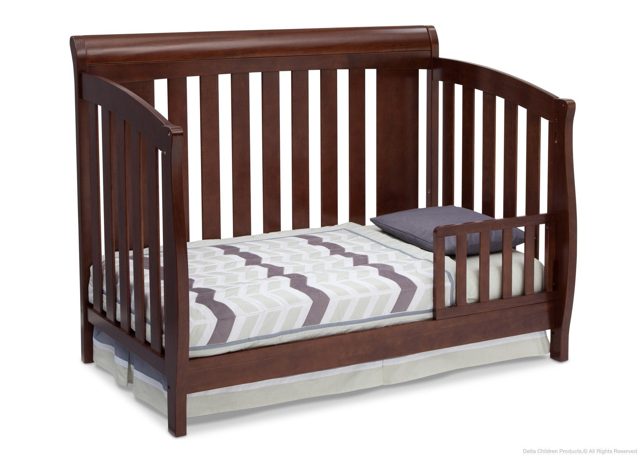 Delta Children Chocolate (204) Clermont 4-in-1 Crib, Toddler Bed Conversion b3b