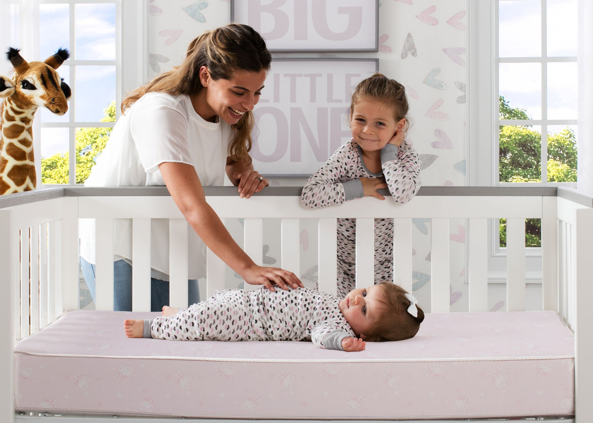 Sertapedic® Petals Crib and Toddler Mattress (A41102-3190-NO), with models, a1a  No Color (NO)