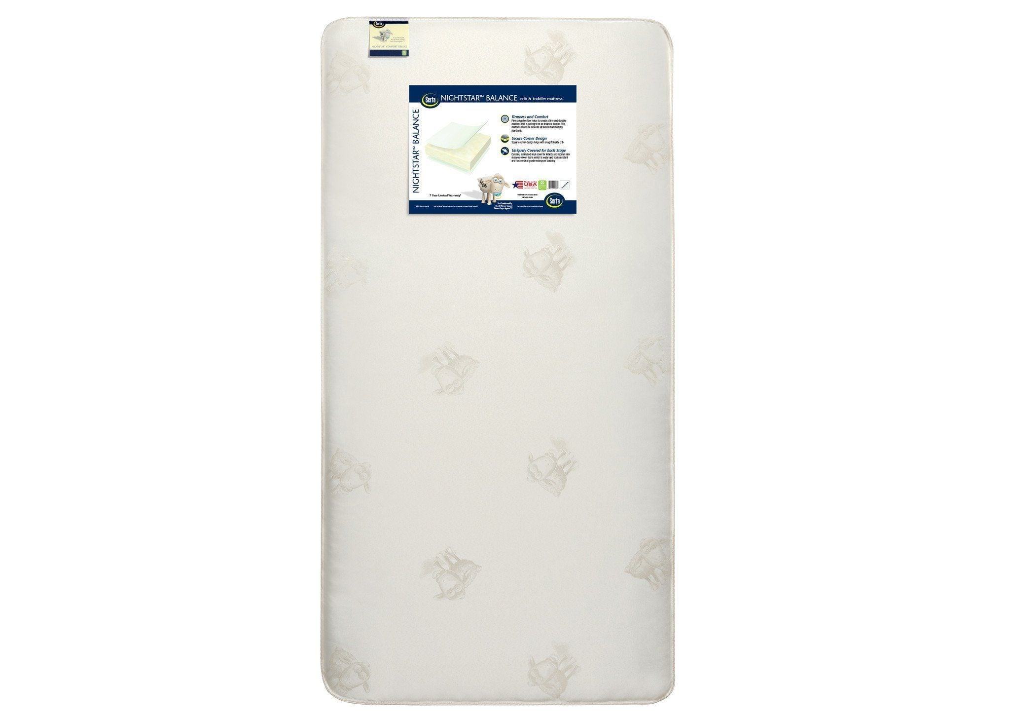 "Serta Nightstarâ""¢ Balance Extra Firm Crib & Toddler Mattress, Front View, a4a No Color (NO)"