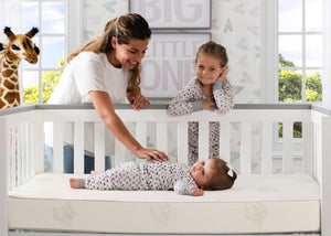 Perfect Sleeper Harbour Innerspring Crib and Toddler Mattress (A45538-1025-NO), with models, a1a No Color (NO)
