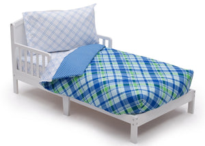 Boy 4-Piece Toddler Bedding Set, Plaid and Gingham (2204) h3h