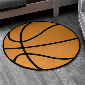 Delta Children Basketball (3205) Non-Slip Area Rug for Boys, Hangtag View