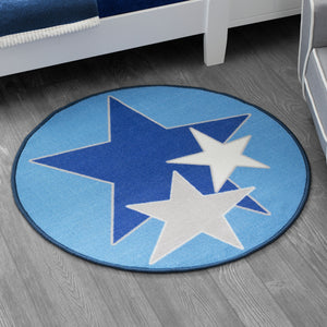 Delta Children Stars (3207) Non-Slip Area Rug for Boys, Hangtag View