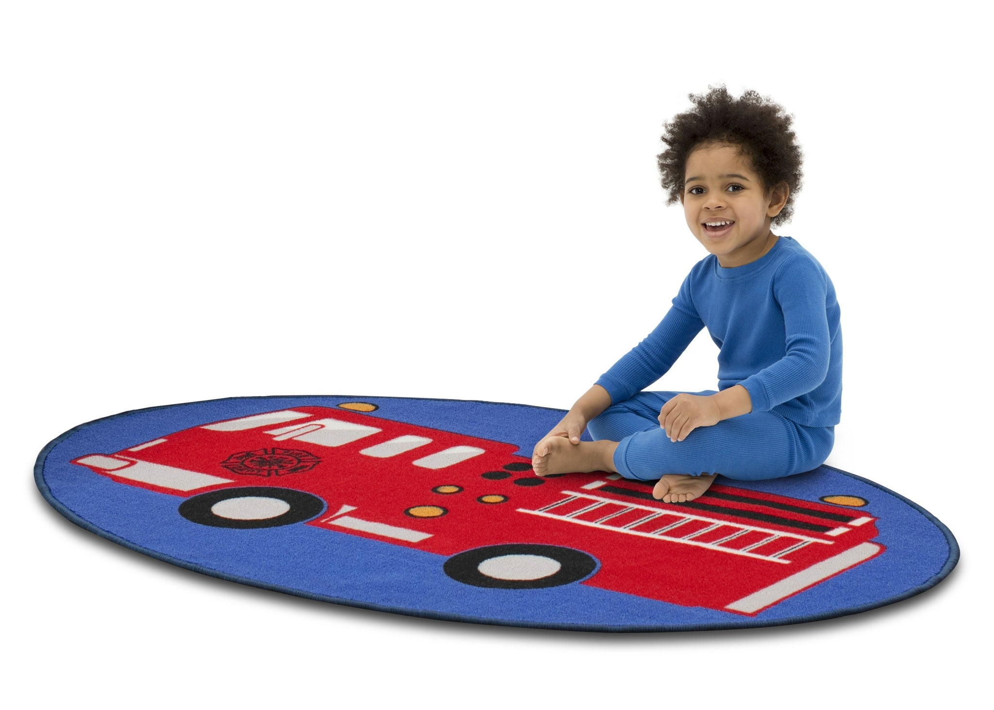 Delta Children Firetruck (3211) Non-Slip Area Rug for Boys, Model View