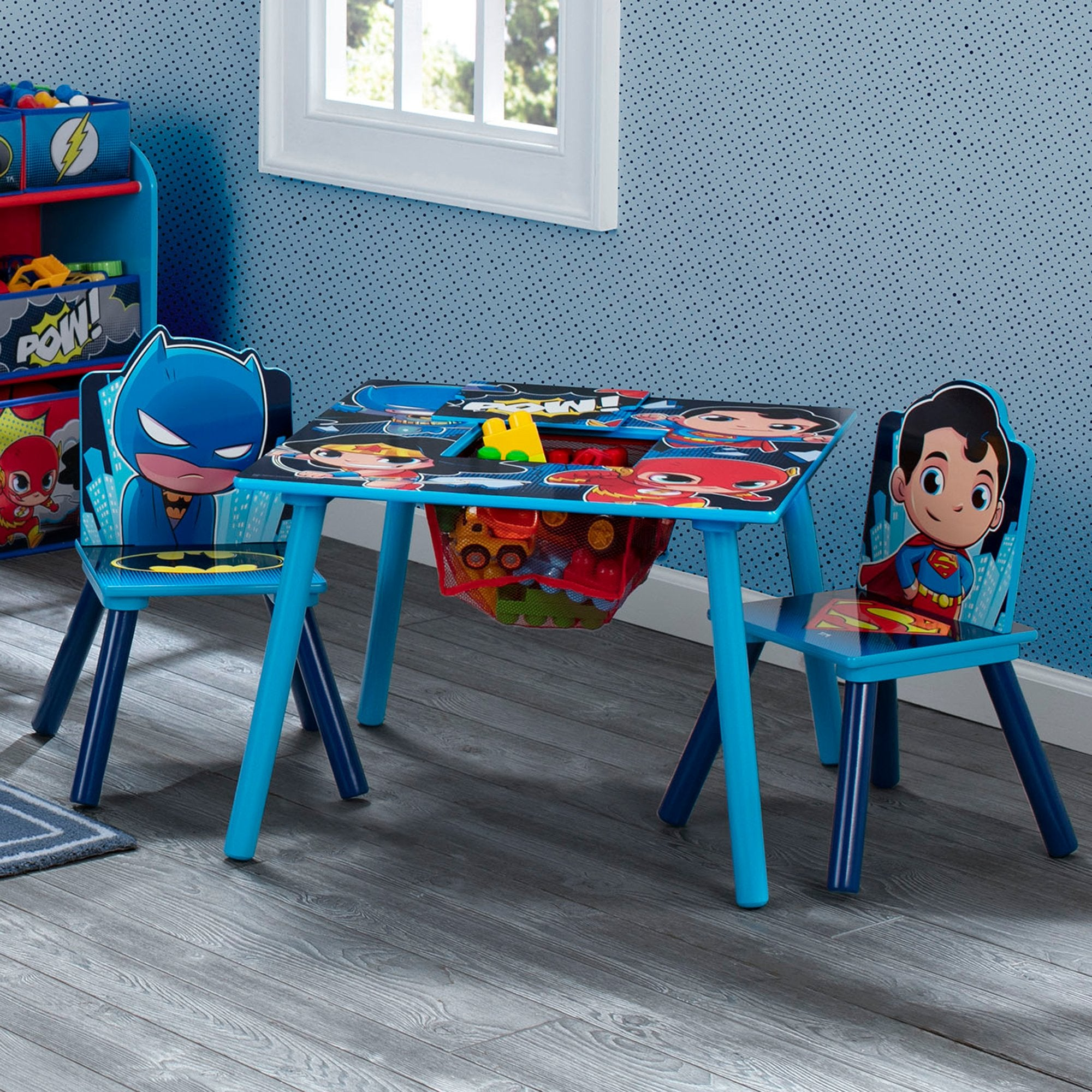 Super Friends (Batman | Superman | Wonder Woman | The Flash) Kids Chair Set and Table