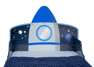 Delta Children Space Adventures (1223) Rocket Ship Wood Toddler Bed, Headboard View