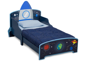Delta Children Space Adventures (1223) Rocket Ship Wood Toddler Bed, Right Silo View