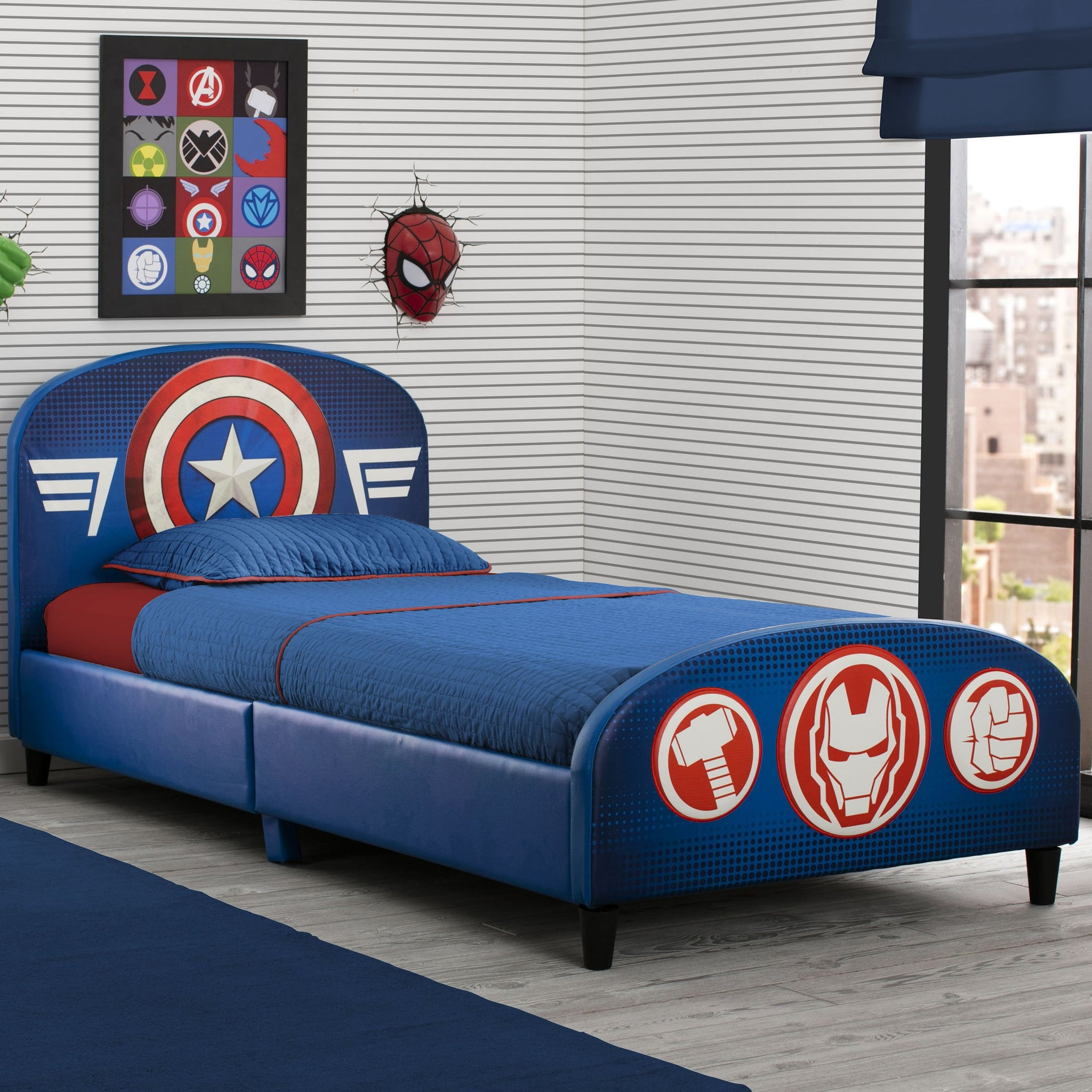 Avengers Upholstered Twin Bed