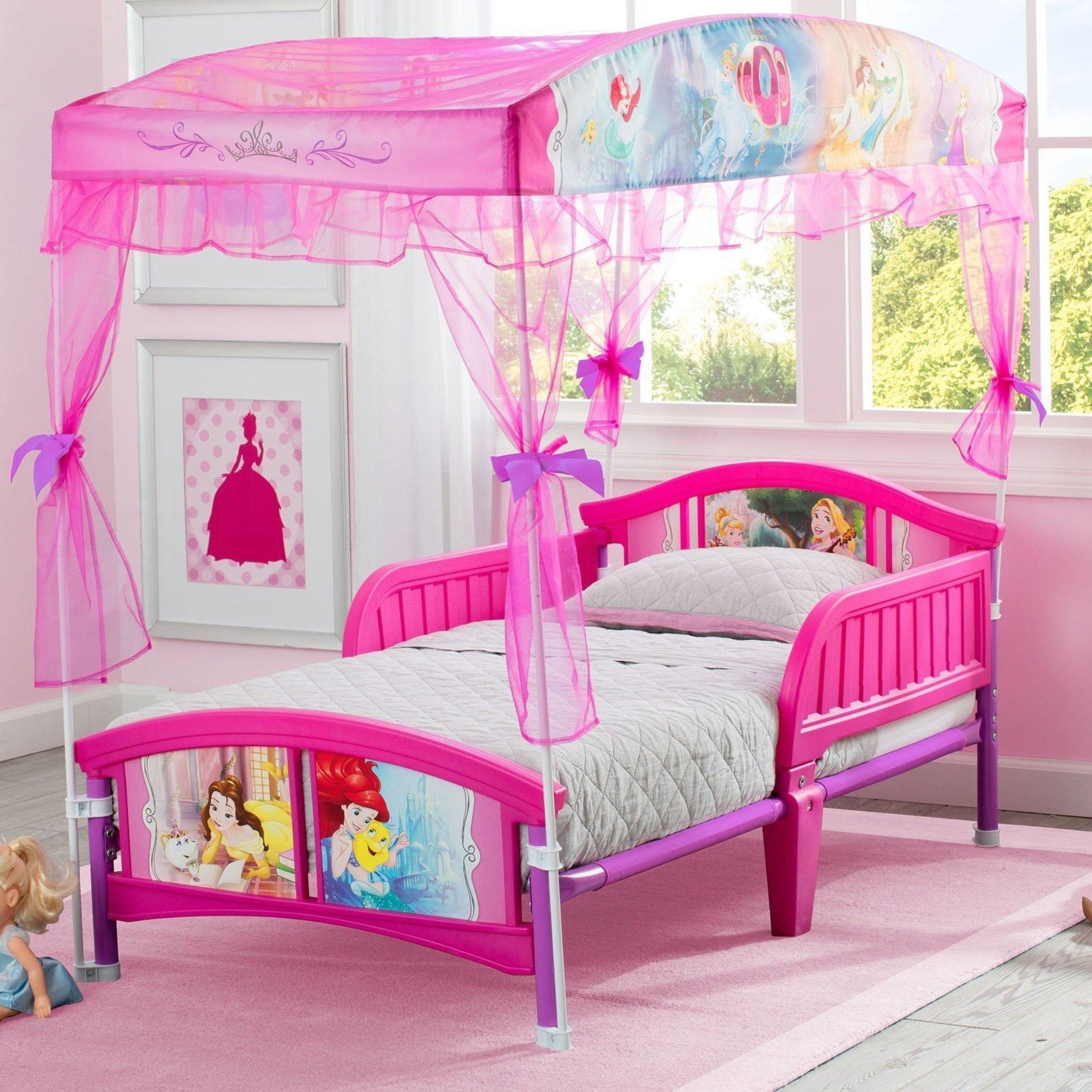 Delta Children Princess Canopy Toddler Bed Room View a1a