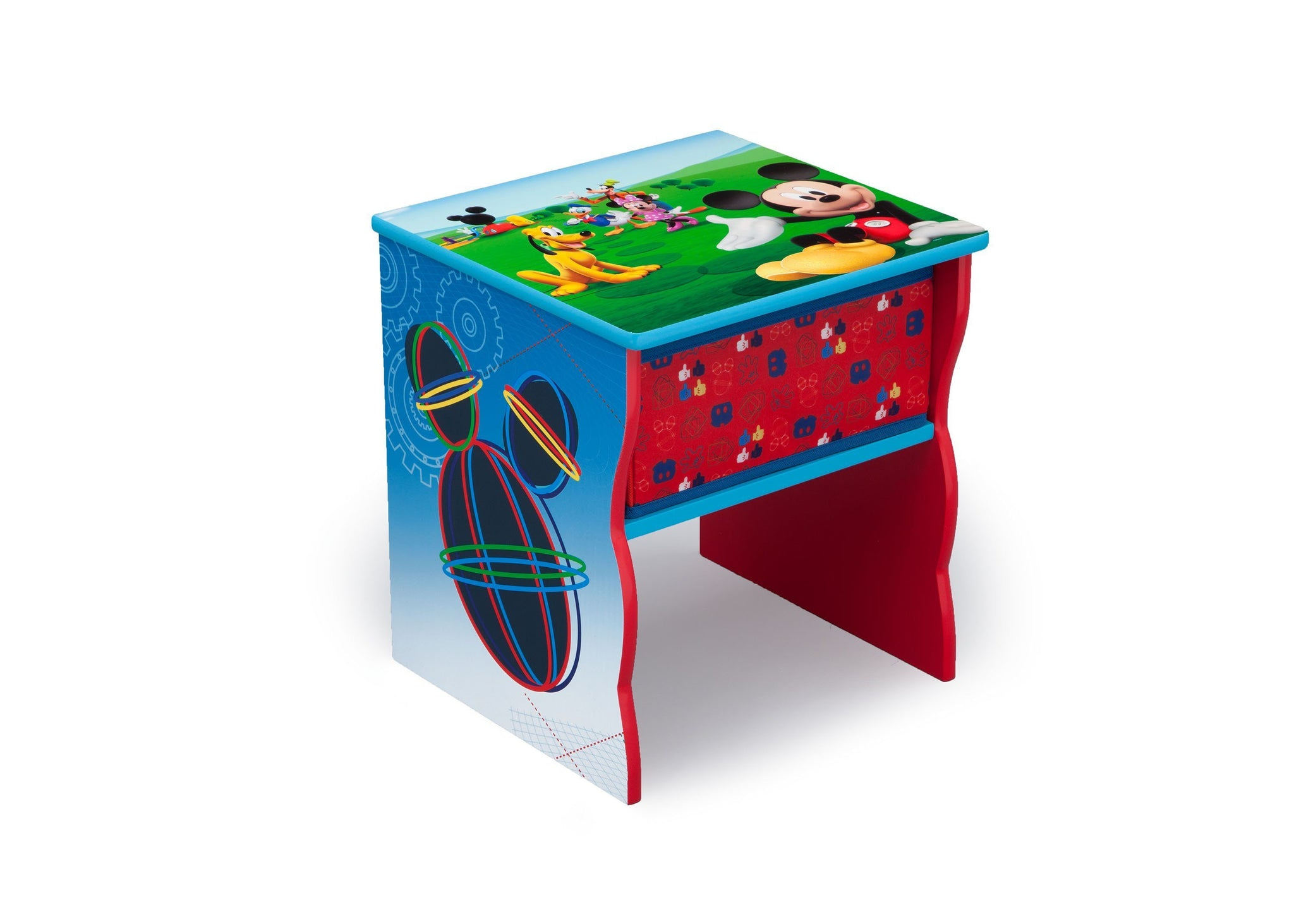 Delta Children Mickey Mouse (1051) Side Table with Storage, Right Angle, a1a