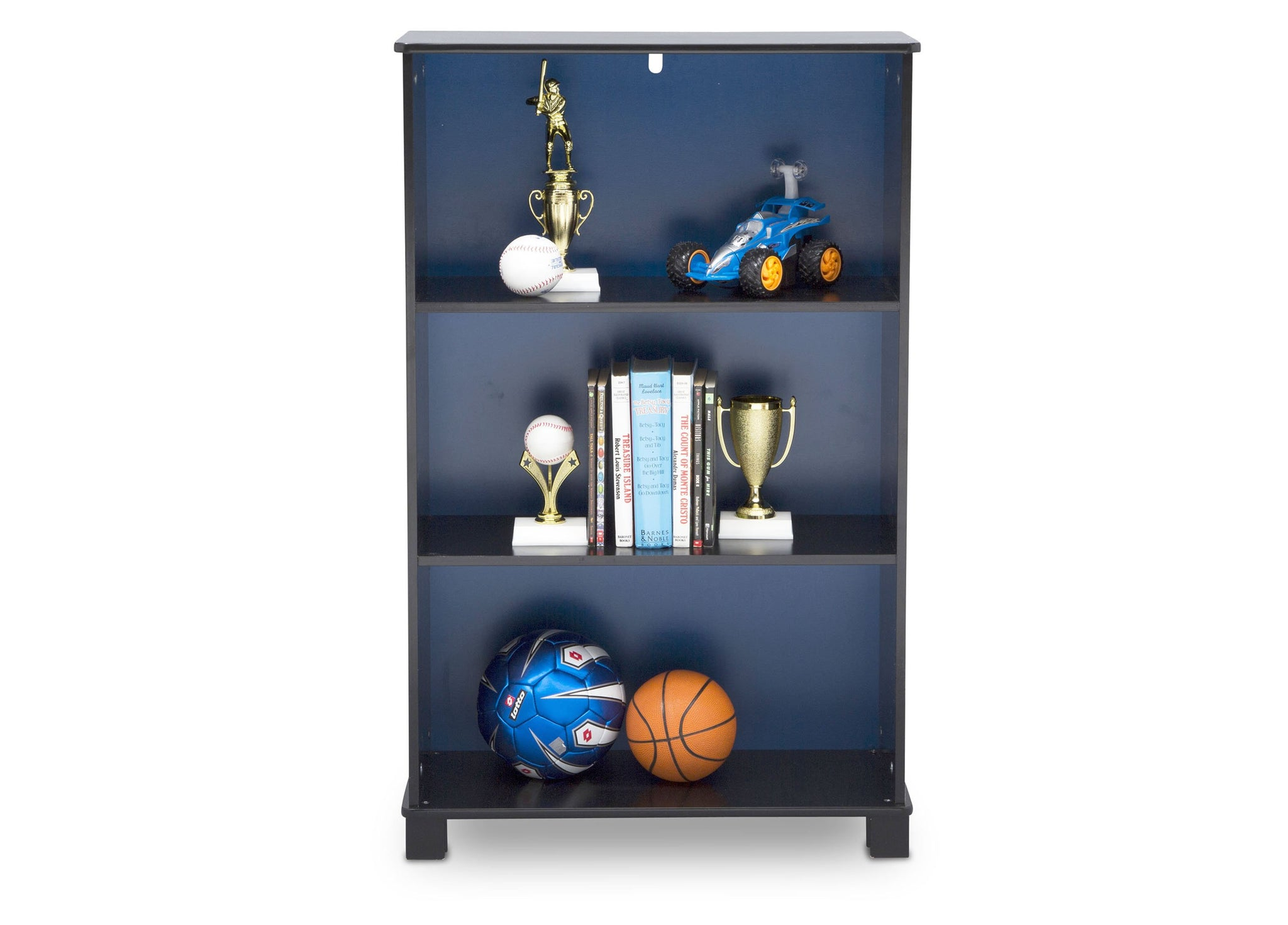 Delta Children Batman (1200) Batman Deluxe 3-Shelf Bookcase (FL86731BT), Front Silo, a3a