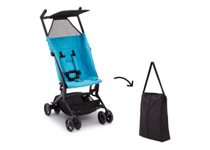 Delta Children Ultimate Fold N Go Compact Travel Stroller Aqua (2022), Front View c8c