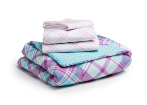 Girl 4-Piece Toddler Bedding Set, Plaid and Gingham (2004) d4d