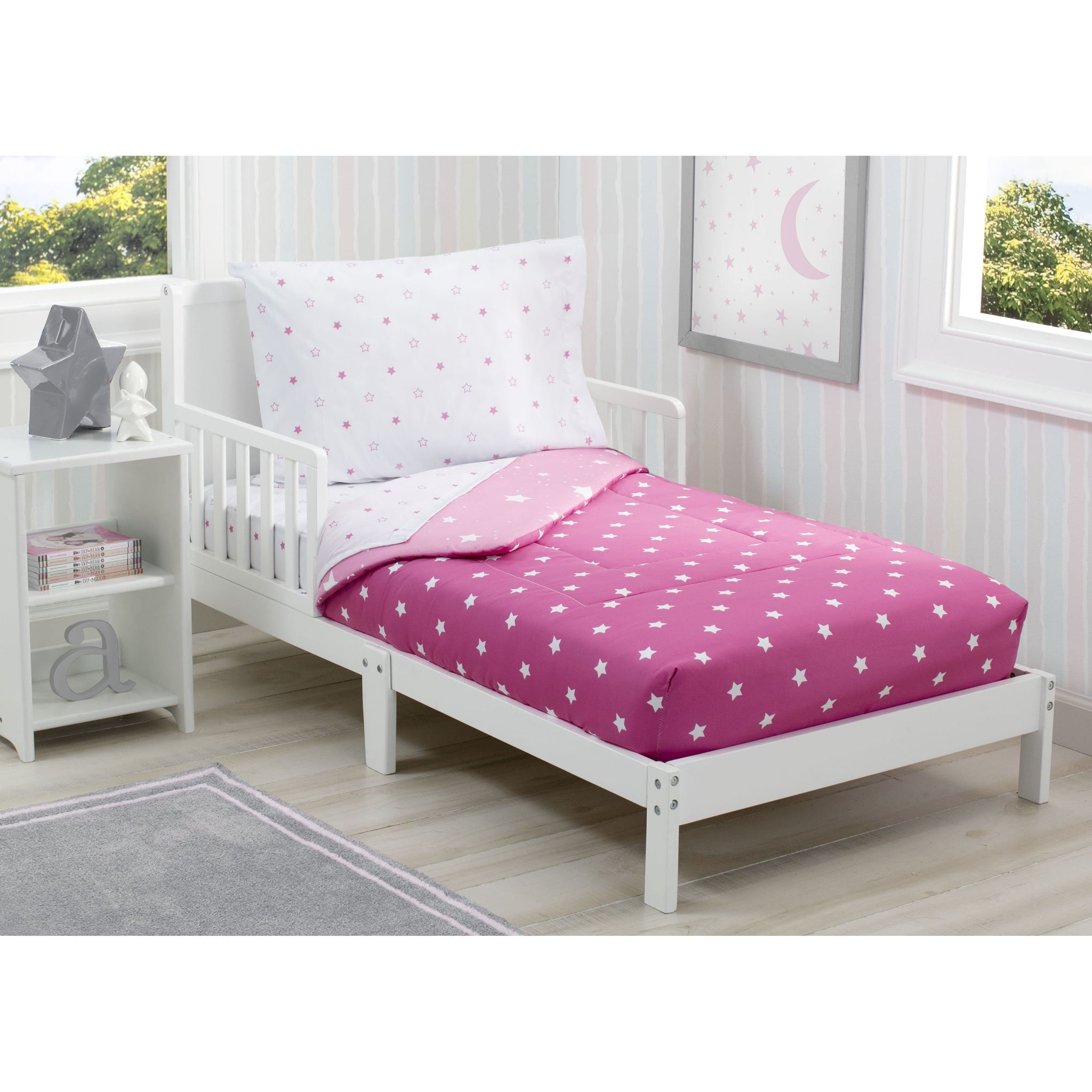 Girls 4-Piece Toddler Bedding Set
