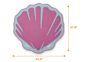 Delta Children Seashell (3013) Non-Slip Area Rug for Boys, Measured View