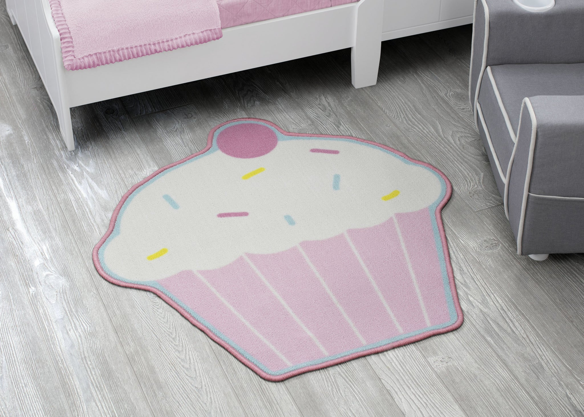 Delta Children Cupcake (3008) Non-Slip Area Rug for Boys, Hangtag View