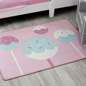 Delta Children Cake Pops (3012) Non-Slip Area Rug for Boys, Hangtag View