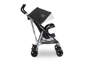 Little Folks Black (001A) Exploration Stroller, Side Silo View