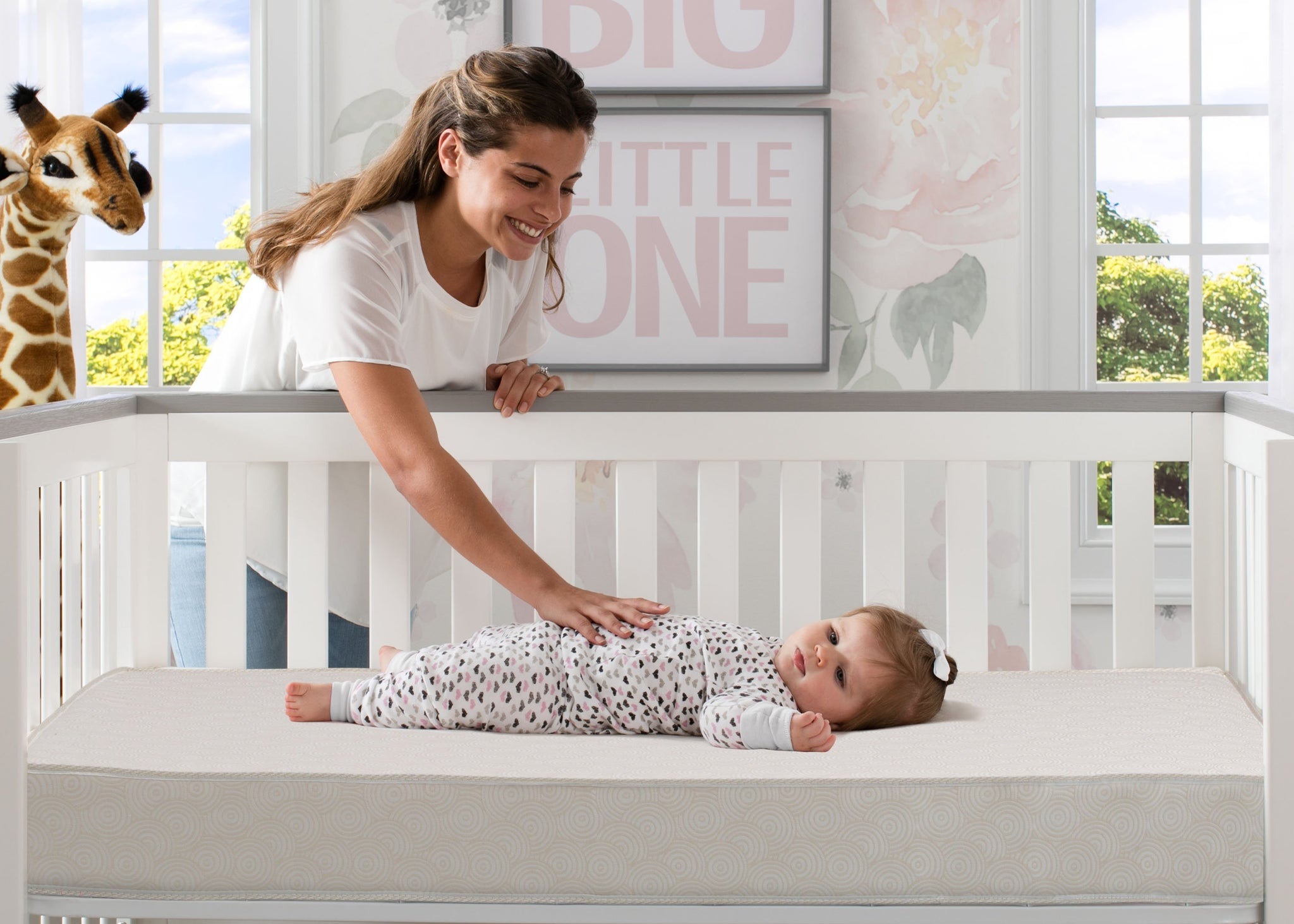 BeautySleep Natural Care Sea Mist Crib and Toddler Mattress by Beautyrest, Lifestyle View