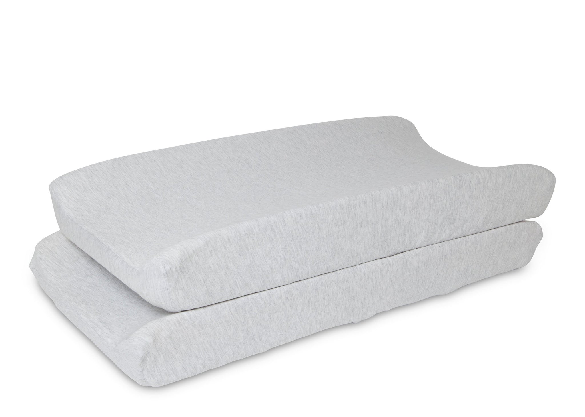 Delta Children Heather Grey (053) Changing Pad Covers – 2 Pack Changing Pad Top View