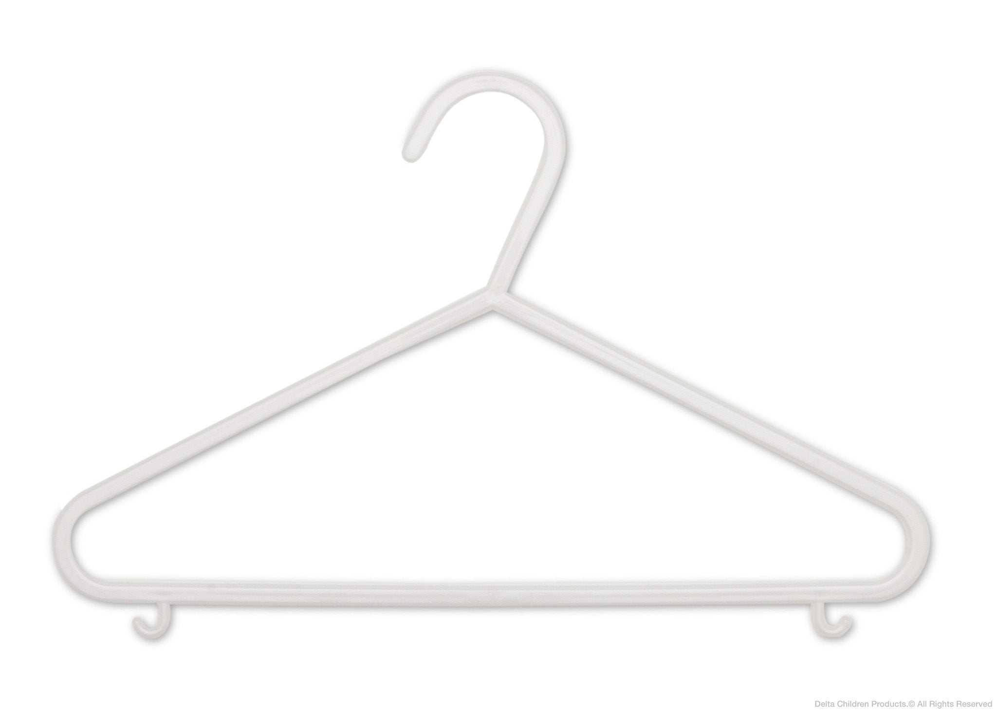 Delta Children White (100) 10 Pack Basic Hangers a1a
