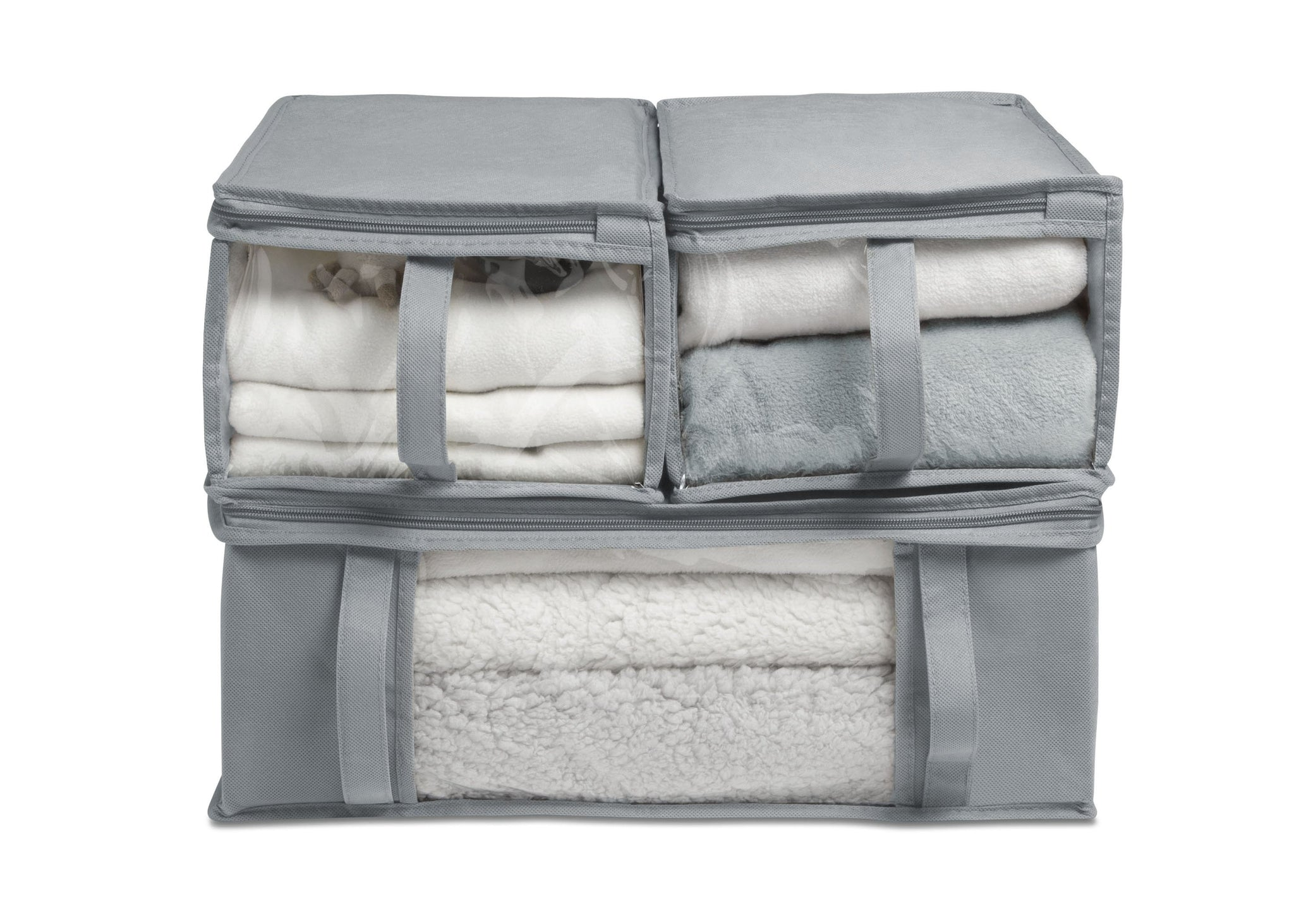 6-Piece Hide-A-Way/Underbed Storage Bag Set (Grey)