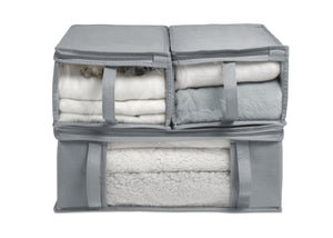 Delta Children Grey (026) 6-Piece Hide-A-Way/Underbed Storage Bag Set, All Bags Silo View