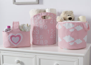 Delta Children's Pink (677) 3 Piece Character Storage Set, Room View c2c