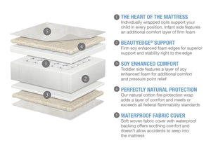 Serta Beautyrest PLATINUM 2 Stage Crib and Toddler Mattress (M59345-5040), a2a No Color (NO)