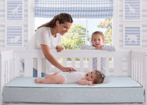 Serta SleepTrue Sweet Moon Crib and Toddler Mattress, Lifestyle View No Color (NO)